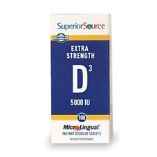 Superior Source Extra Strength Vitamin D3 5000 IU Tablet micro lingual 100 Count