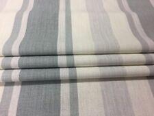 Laura Ashley Awning Stripe Slate Grey Curtain Fabric Remnant 80cm W X 110cm Long
