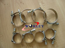 """8pcs x 3"""" inch Turbo Pipe Hose Coupler 76mm ID T-bolt Clamps Stainless Steel"""