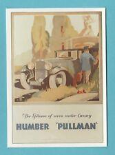 ADVERTISING  -  ROBERT  OPIE  POSTCARD  -  HUMBER  PULLMAN