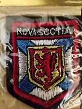 """Vtg Int'l Insignia NOVA SCOTIA Canada Sewing Souvenir Patch NEW 3 x 2.5"""""""