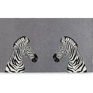 Aqua Home Mirrored Zebra Throw Blanket