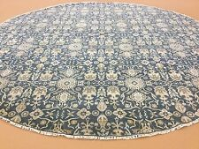 12 X 12 Blue Round Transitional Geometric Persian Oriental Area Rug Hand Knotted