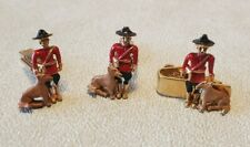 Vintage Sarah Coventry Enamel Canadian Mountie Police Dog Cuff Links Tie Clip