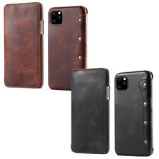"Custodia libretto VERA PELLE cover Vintage Leather Case Apple iPhone 11 Pro 5.8"""