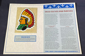 Willabee & Ward Lost Treasures Of Baseball Collection 1933 Cleveland Indians