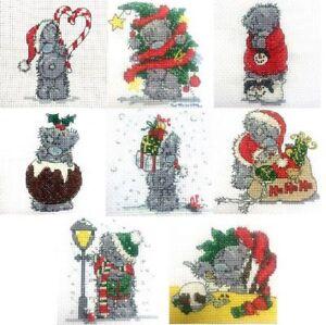 DMC Me To You Tatty Teddy Christmas Mini Cross Stitch Kit
