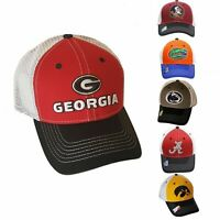 NCAA Snapback Hat Mesh Adjustable Trucker Cap Pick College Team Embroidered Logo