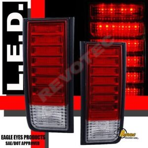 2003-2009 Hummer H2 SUV Red LED Tail Lights Lamps 1 Pair