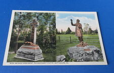 (1) Antique Post Card(s) - PA - Irish Brigade Monument, Father Corby Statue, Get