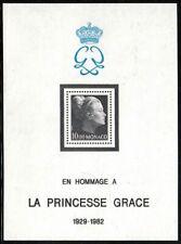 "MONACO BLOC FEUILLET 24 "" HOMMAGE PRINCESSE GRACE KELLY 10F "" NEUF xx LUXE B129"