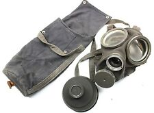 (7) WW2 era SWEDEN SWEDISH ARMY m36 GAS MASK + 1939 DATED FILTER AND BAG