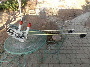 """(2) Big Jon Manual Downriggers 53"""" Booms W/Rod Holders-Line Counters-Cable 4/21"""