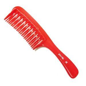 Pro Tip 08 Detangling Comb De Tangle Red De Frizz Comb Hair Hairdressing