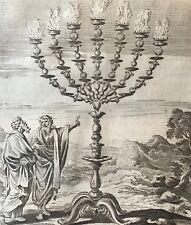 Chandelier d'or temple Jérusalem Matham 1571-1663 après Hendrick Goltzius Israël