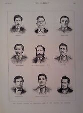 1877 PRINT SOME OF THE RESCUERS & SUFFERERS OF FLOODED COLLIERY AT TROEDYRHIW