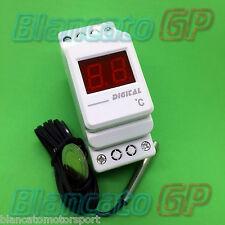 TERMOMETRO DIGITALE BARRA DIN 220V AC CORRENTE ALTERNATA NTC 36mm thermometer