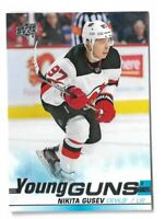 2019-20 UPPER DECK #468 NIKITA GUSEV YG RC UD YOUNG GUNS ROOKIE DEVILS
