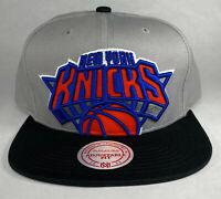 Mitchell and Ness NBA New York Knicks Cropped 2-Tone Snapback Hat, 100% Cotton