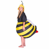 Adult Mens Ladies Funny Inflatable Bee Fancy Dress Costume Outfit Suit Halloween