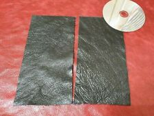 """Black 100% furtura Italian leather 2 offcuts 9""""x4.5"""" Craft Patch Repair Upcycle"""