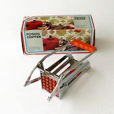 Coupe frites ancien mécanique - Vintage  - Grille amovible - N°42337 Orange