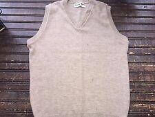 Vintage Randolph Hall Beige Sweater Vest Mens Large