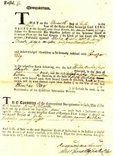 Colonial American BENJAMIN SILVERTER'S APPEAL BY HIM FOR A BOND THAT WENT BAD