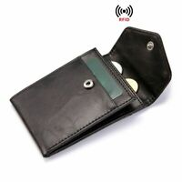 RFID Women Men Mini Leather Wallet Coins Purse Credit ID Card Holders Card Case