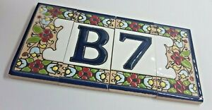 Spanish Cherry Hand-painted Ceramic Tiles For House Numbers, Letters and Frames