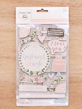 Project Life SOUTHERN WEDDINGS (35) CHIPBOARD STICKERS scrapbooking 380471