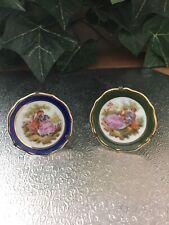 Antique Pair Limoges France Mini Plates