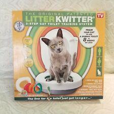 New Litter Kwitter 3-Step Cat Toilet Training System Nib