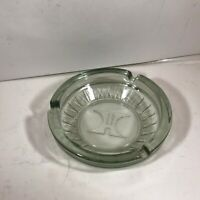 Vintage Clear Glass HILTON HOTEL Round Ashtray