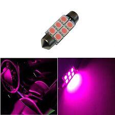 1x Hot Pink 42mm 578 LED 211-2 Bulbs Festoon 5050 Dome Map Cargo Light 1xE5