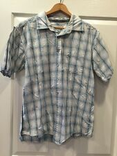 QUICKSILVER  Edition PLAID SHORT SLEEVE SHIRT MENS SIZE L RCP