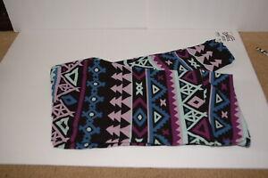 LuLaRoe  Aztec Leggings TC2   Purple Black Mint Teal   NWOT
