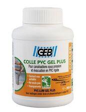 COLLE PRESSION EVACUATION RACCORD PVC RIGIDE TRANSPARENT NE COULE PAS 250 ML GEB