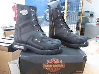 NEW Harley Davidson Mens Leather Boot Boots Shoes Medium Black Zander