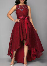 Women Asymetrical Evening Party Dress Ball Prom Gown Cocktail Wedding Dress