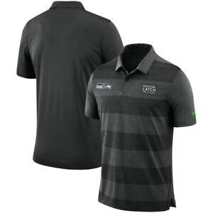 Nike Seattle Seahawks Crucial Catch Intercept Cancer polo Shirt Men L/large $75