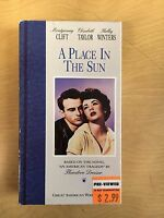 A Place In The Sun Motion Picture VHS 1951 Montgomery Clift Elizabeth Taylor