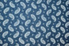 5 Meter Cotton Blue Hand Block Indigo Print Fabric Natural Dyes Indian