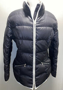 Womens Bogner Ski Jacket Black Quilted Puffy. Large•Sz 12•EUC
