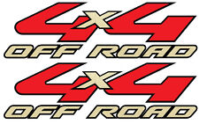 2008-2010 Vinylmark 4x4 Off Road Decals for Ford (F250, F350) Super Duty GOLD