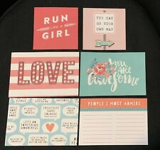 Photo Play Run Like A Girl 4x4 4x6 Element Pieces Cards Journaling Scrapbook