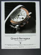 1990 Girard-Perregaux GP 7000 Chronograph watch photo vintage print Ad