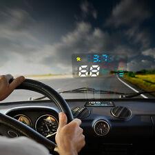Display GPS Proyector Parabrisas Coche Velocimetro Alarma Exceso Velocidad HUD -