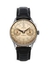 Rolex Vintage Chronograph Manual 38mm Steel Mens Strap Watch 3834