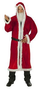 Nikolausmantel Weihnachtsmann 3tlg Santa Claus Nikolaus Karneval Weihnachten